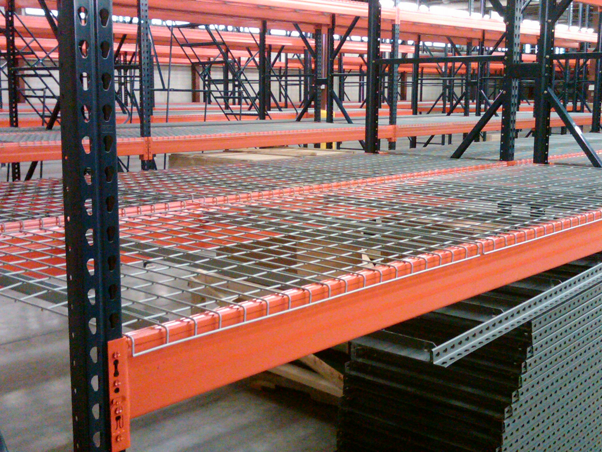 Teardrop Pallet Rack and Wire Decking, New and Used, Pallet Rack in Stock Greensboro and Charlotte, NC
