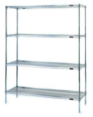 Nexel Wire Shelving, WIre Shelving, Metro Wire Shelving, Wire Shelving, Chrome Wire Shelving